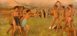 """(Degas, """"Giovani spartani che si esercitano"""")"""